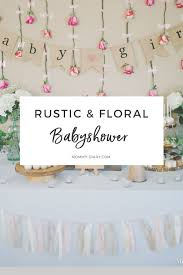 Rustic Floral Baby Shower For Girl