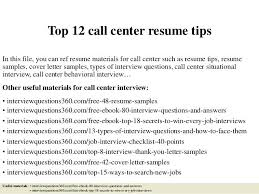 Call Center Resume Sample Top Tips In This File You Can Ref Materials For Philippines