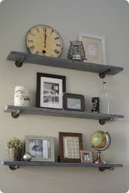 reclaimed wood and metal wall shelves knock off decor duplex