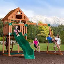 Backyard Odyssey Trek Cedar Swingset - Toys