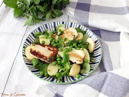 cuisiner des petit pois frais salade de petits pois frais à l halloumi