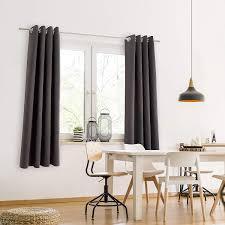 eleganter vorhang mit ösen für schlafzimmer blumtal 2er set