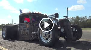 Blown 1935 Ford Dually Rat Rod Truck – Rust Rebellion – Speed Society