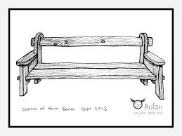 Sketch of the day no 135 Park Bench – The Crazy Bag Lady