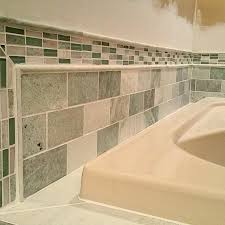 biltmore marble subway tile with coordinating finishing pieces and