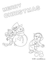 Put The Tree Up Christmas Snowman Poster Coloring Page