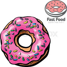 Logo and set the sketch illustration of donut vector drawn by hand isolated on white background sweet fresh closeup donut and logo design for your brand