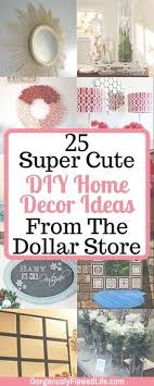 Inexpensive Affordable Cute DIY Home Decor Ideas From The Dollar