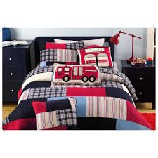 Kids Bedding Queen Size Hand-pieced Thomas Red/ Blue Patchwork Quilt ...