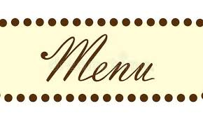 Menu Word Text Header Stock Illustration Of Border With The In Fancy Writing