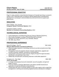 General Resume Objective For Entry Level