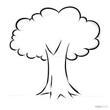 Full Size Of Coloring Pageendearing Tree Drawing Simple Page Charming