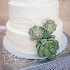 Textured Buttercream Wedding Cake With Succulents