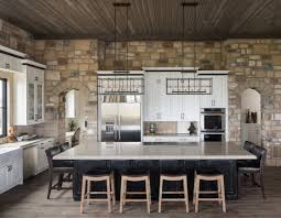 Stone Kitchen Interior Decoration Ideas Dining Room With White Gloss Sirfaces Among The Crude Natural
