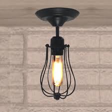 fashion style semi flush mount ceiling lights industrial lighting