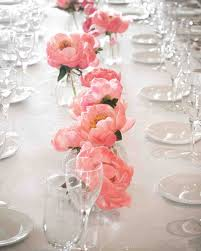 Coral Color Decorations For Wedding by 37 Pink Wedding Centerpieces Martha Stewart Weddings