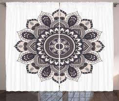 gardine schlafzimmer kräuselband vorhang mit schlaufen und haken abakuhaus ethnisch mandala motiv kaufen otto