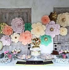 2pcs Paper Flowers 20cm DIY Party Backdrop Decor Flower Wedding Hen Kids Birthday Home