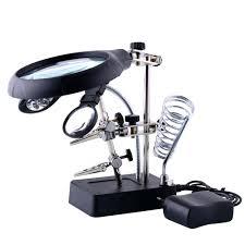 Lighted Magnifier Desk Lamp by Desk Illuminated Magnifier Innovative Magni Black Designer Lamp