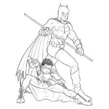 Batman And Robin Batmobile Vehicle Of Coloring Pages