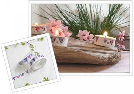 washi teelichter diy idee wohnzimmer deko wimpel rosa