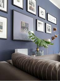 dunkelblaue wandfarbe für s wohnzimmer probiere es mal aus