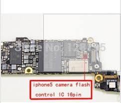 for iphone 5 camera flash control IC U17 16pin in Integrated