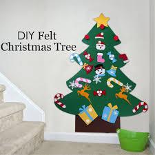 Kids Felt Christmas Tree With Ornaments Xmas Gift DIY Door Wall Hanging Decorhot