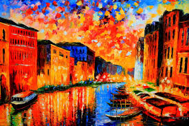 Beautiful Vibrant Cityscape Oil Painting From FineProArt Gallery Owl PaintingsModern PaintingsArt