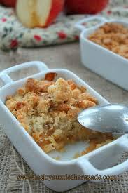 dessert aux pommes sans cuisson crumble aux pommes les joyaux de sherazade