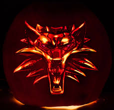 Werewolf Pumpkin Stencil by The Witcher Pumpkin Carving By Wispychipmunk On Deviantart