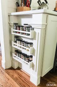 Pantry Cabinet Ikea Hack by Easy Built In Spice Rack Bekvam Ikea Hack Spice Shelf Ikea