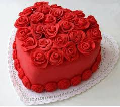 Red Rose Birthday Cake With Name Bday Wishes for Friend lover