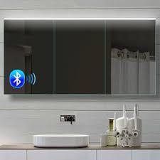 aluminium led kalt warmlicht spiegelschrank mit bluetooth bhc142h70