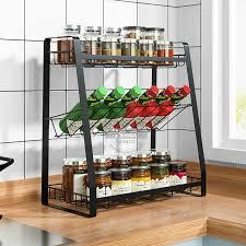 3 tier gewürz rack multi funktionale küche storage rack arbeitsplatte lagerung regal geeignet für küche bad lagerung