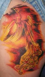 Burning Flame Tattoo Design