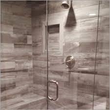 porcelain or ceramic tile for shower walls 盪 modern looks slippery