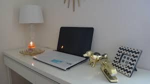 Ikea Besta Burs Desk Black by How I Style My Desk Tour Youtube