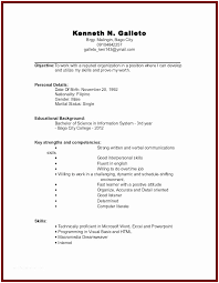 Resume Examples For Jobs With Little Experience Sample College Student Of