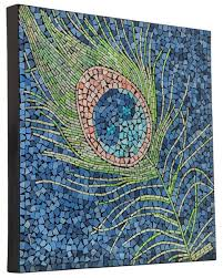 peacock feather mosaic glass tile wall 23 5 inches mosaic