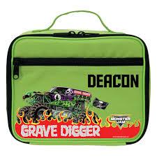 100 Monster Truck Lunch Box Jam Grave Digger Green Bag