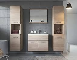 badezimmer badmöbel set montreal xl 60 cm waschbecken sonoma eiche unterschrank hochschrank waschtisch möbel