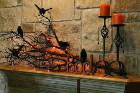 Halloween Fireplace Mantel Scarf by Black Cheesecloth And The Chain Set The Mood For This Decor