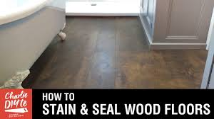 Restain Hardwood Floors Darker by How To Stain And Seal A Wood Floor Youtube