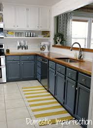 Grey White And Yellow Kitchen