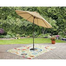 Patio Umbrellas Walmart Usa by Mainstays Wesley Creek 9 U0027 Umbrella Walmart Com