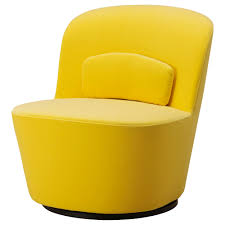 great colour STOCKHOLM Swivel easy chair Sandbacka yellow
