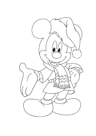 Mickey Mouse Christmas Coloring Pages Free Print