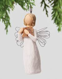 Black Angel Christmas Tree Topper by Christmas Angels Christmas Figurines Holiday Figures Willow Tree