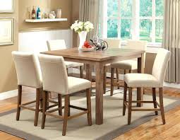 dining chairs counter high dining set height table black room